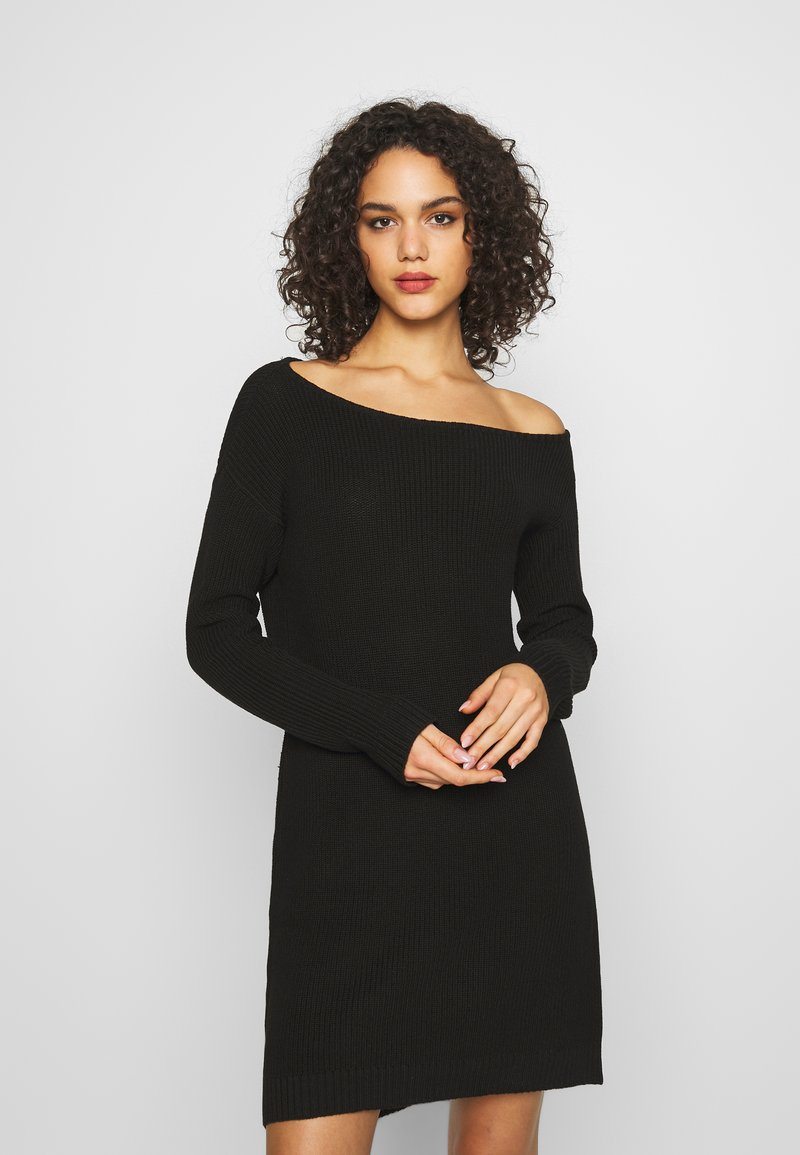 Even&Odd - Abito in maglia - black