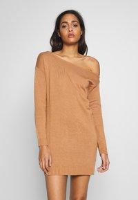 Even&Odd - Stickad klänning - macaroon - 0
