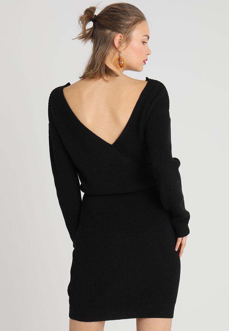 Even&Odd - Gebreide jurk - black