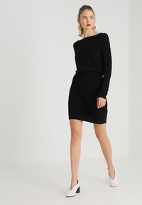 Even&Odd - Gebreide jurk - black - 2
