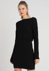 Even&Odd - Gebreide jurk - black - 3