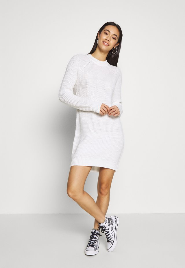 BASIC - Jumper dress - white