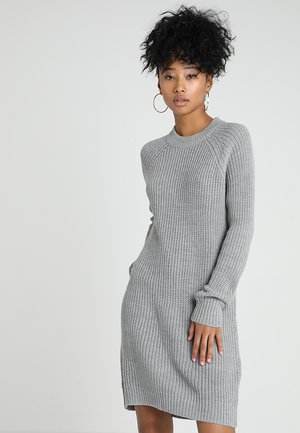 BASIC - Sukienka dzianinowa - mottled grey
