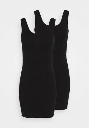 BASIC 2 PACK - Shift dress - black