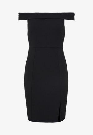 DRESS OFF SHOULDER - Shift dress - black