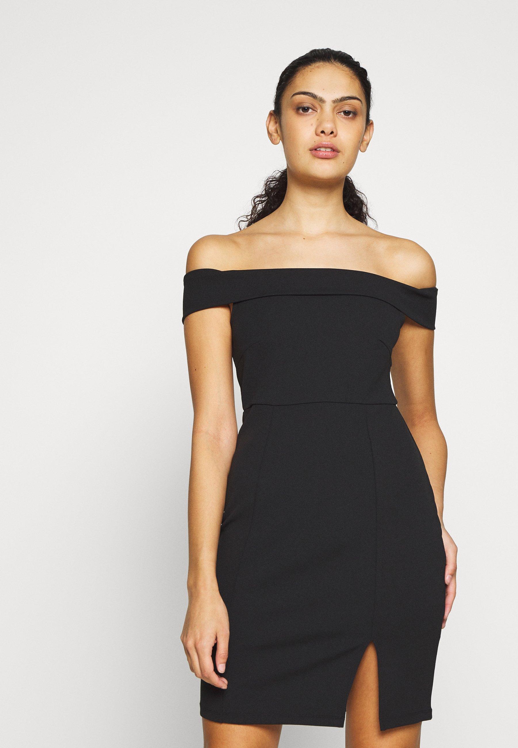 Even&Odd DRESS OFF SHOULDER - Sukienka etui - black