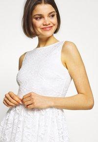 Even&Odd - BASIC OCCASSION MINI DRESS - Koktejlové šaty/ šaty na párty - white - 4