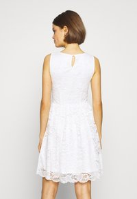 Even&Odd - BASIC OCCASSION MINI DRESS - Vestito elegante - white - 3