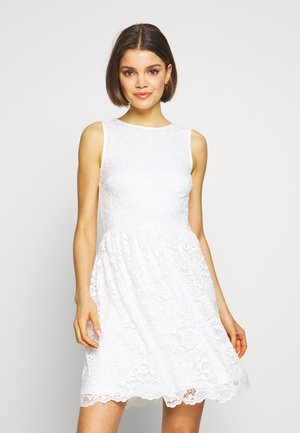 BASIC OCCASSION MINI DRESS - Koktejlové šaty / šaty na párty - white