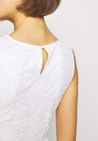 Even&Odd - BASIC OCCASSION MINI DRESS - Koktejlové šaty/ šaty na párty - white - 6