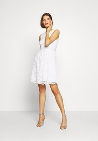 Even&Odd - BASIC OCCASSION MINI DRESS - Vestito elegante - white - 2