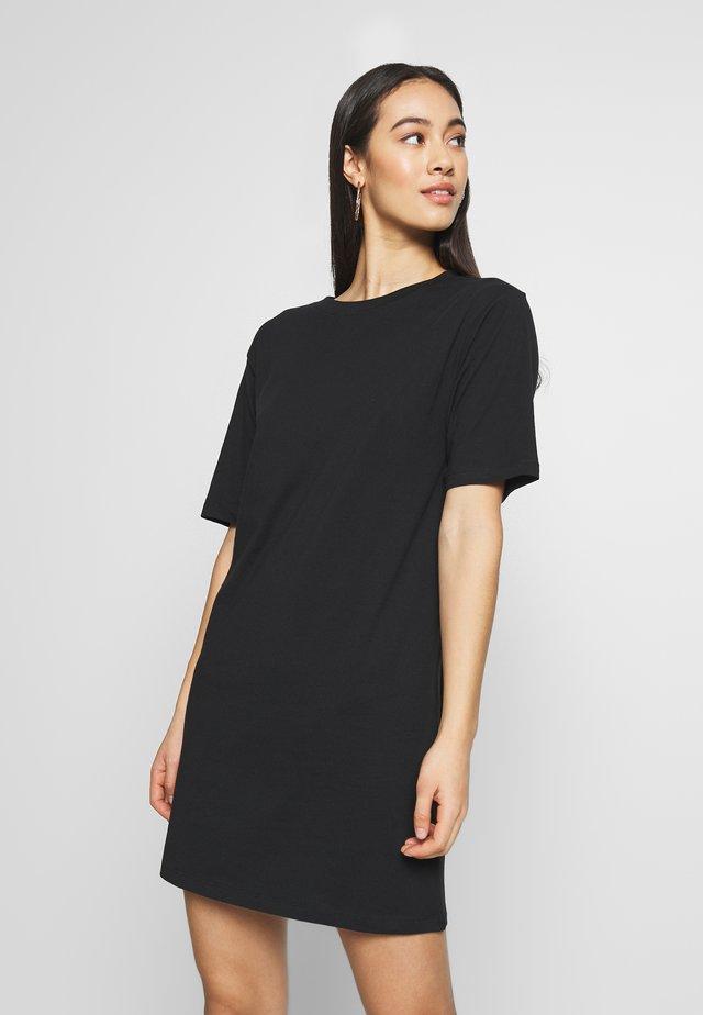 BASIC - Žerzejové šaty - black