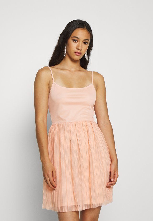 Koktejlové šaty/ šaty na párty - dusty pink