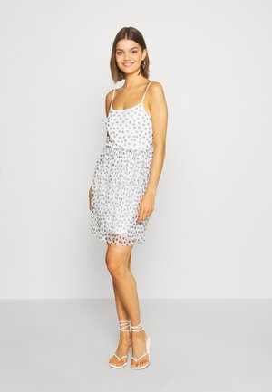 Cocktail dress / Party dress - black with white