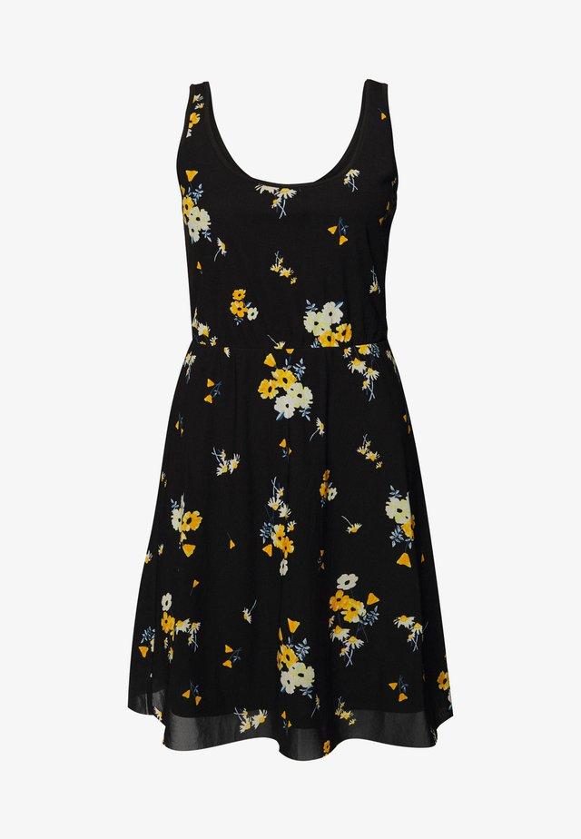 Vestito estivo - black/yellow