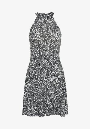 Jersey dress - white/black