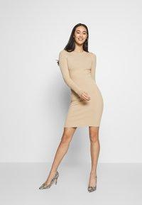 Even&Odd - BASIC - Strikket kjole - sand - 1
