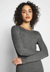 Even&Odd - BASIC - Strikket kjole - grey melange - 3