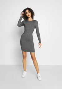 Even&Odd - BASIC - Strikket kjole - grey melange - 1