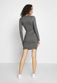 Even&Odd - BASIC - Strikket kjole - grey melange - 2