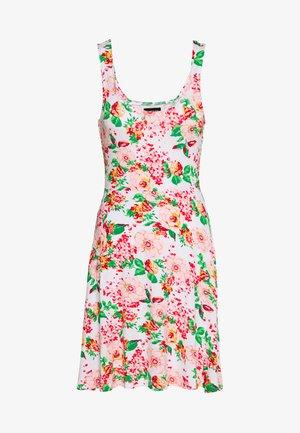 Žerzejové šaty - multicoloured/white