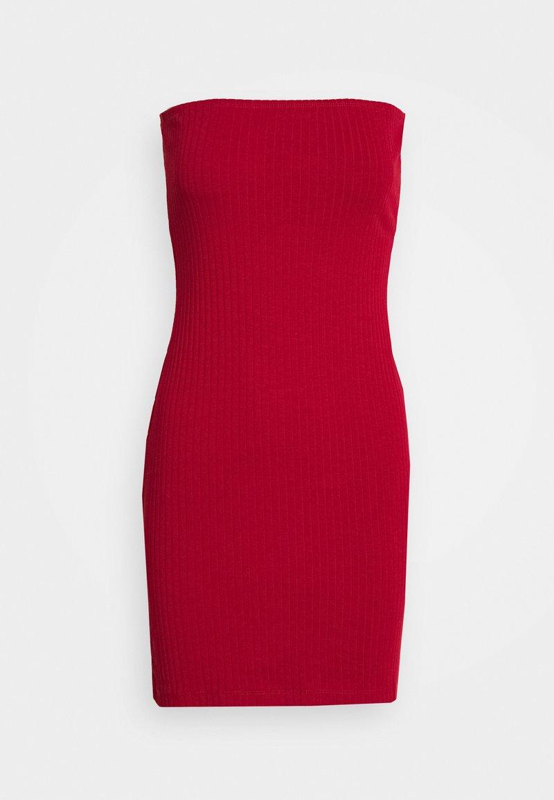 Even&Odd - BASIC - BUSTIER MINI DRESS - Strikket kjole - chilli pepper