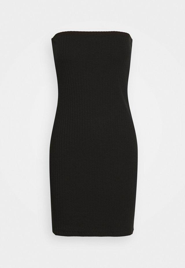 BASIC - BUSTIER MINI DRESS - Pletené šaty - black