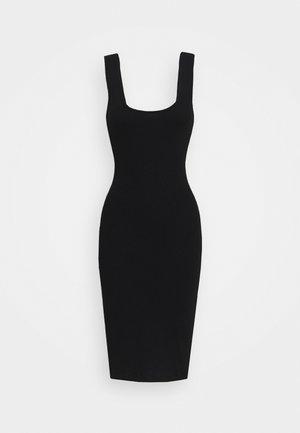 BASIC JERSEYKLEID - Fodralklänning - black