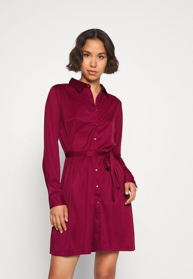 Košilové šaty - dark red