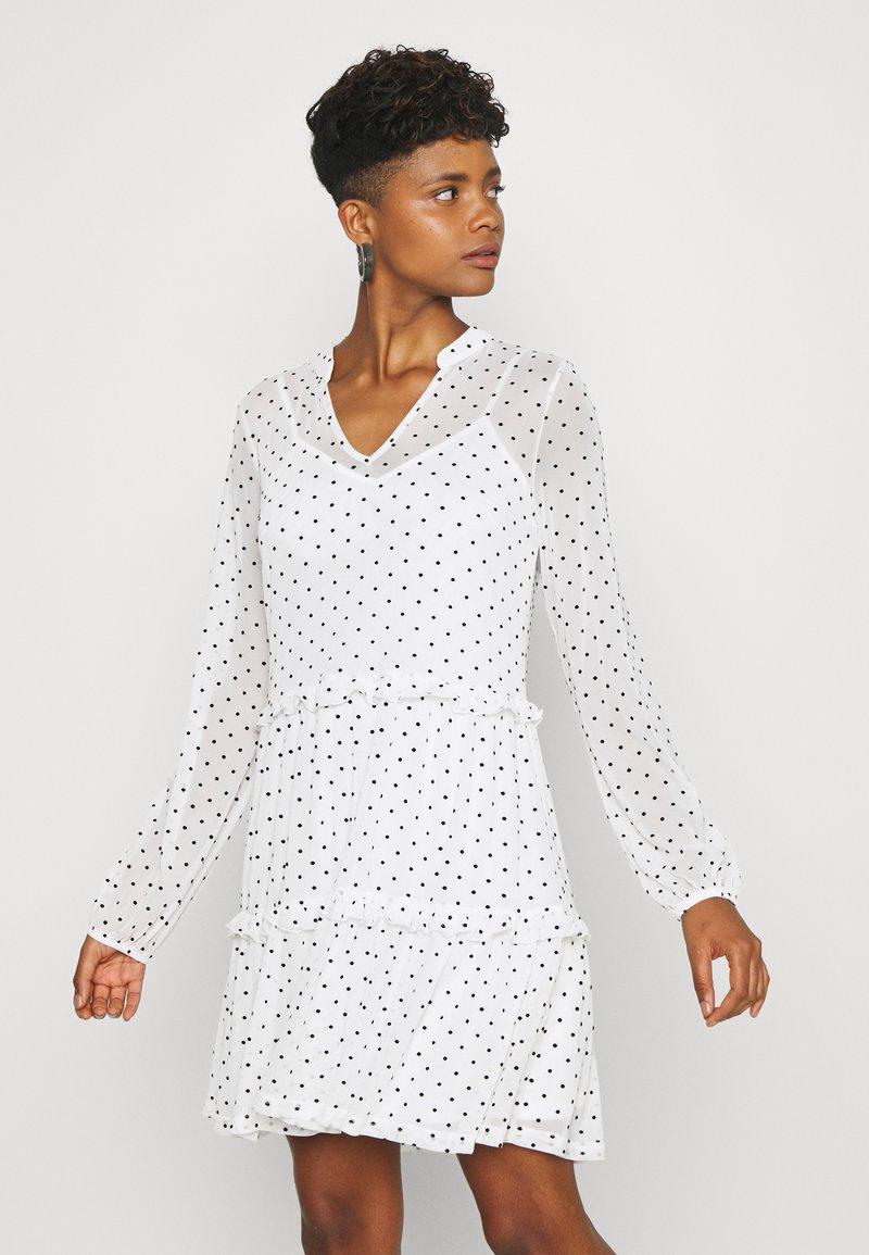 Even&Odd - Korte jurk - black/white