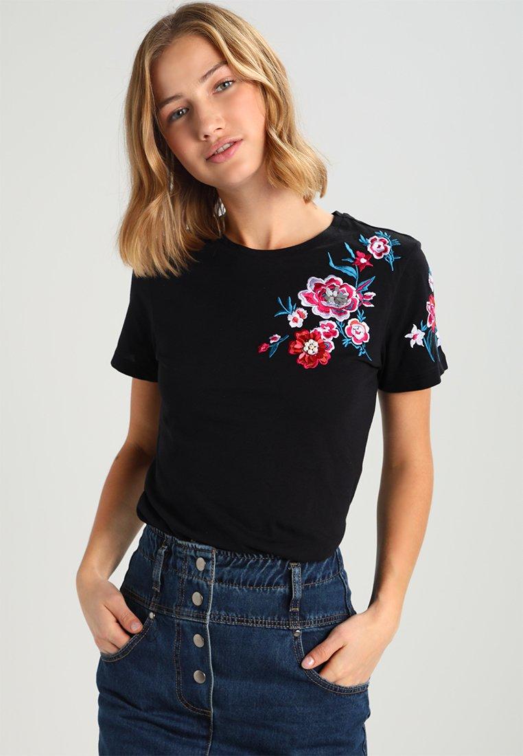 Even&Odd - T-shirt con stampa - black