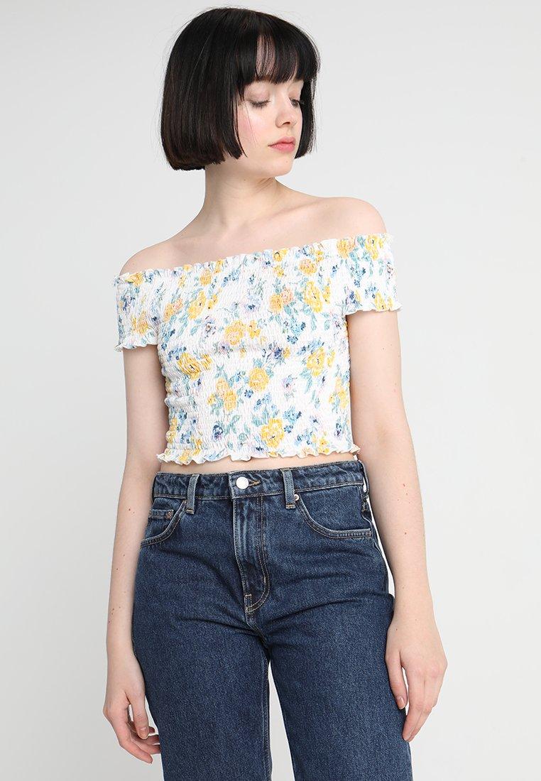 Even&Odd - T-Shirt print - white/yellow