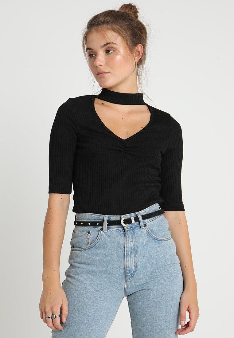 Even&Odd - T-Shirt basic - black
