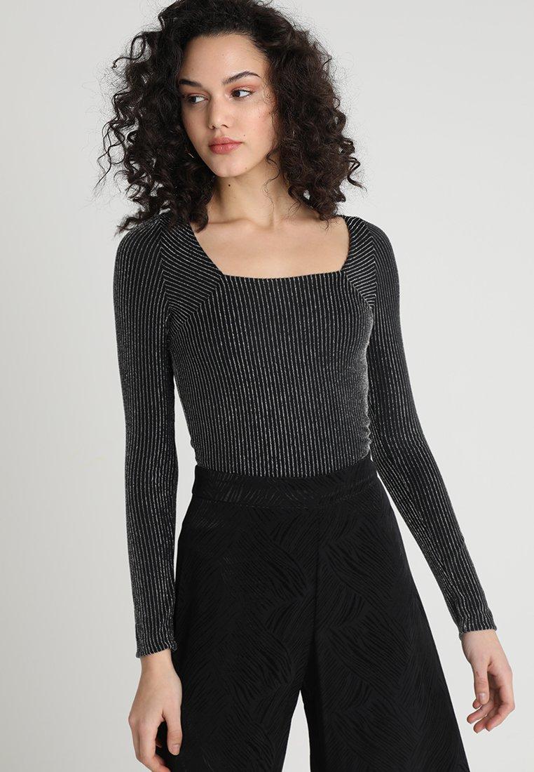 Even&Odd - Maglietta a manica lunga - black