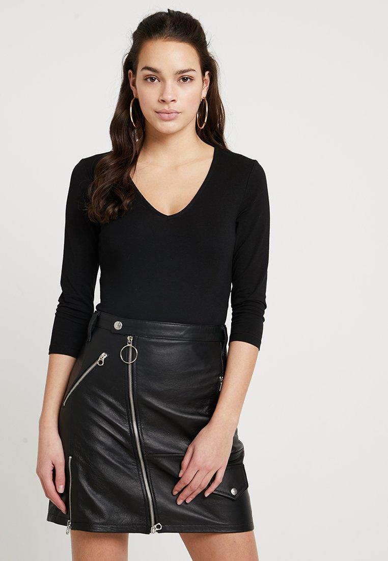 Even&Odd - BODYSUIT - Langarmshirt - black