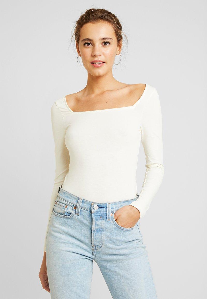 Even&Odd - BODYSUIT - Long sleeved top - white