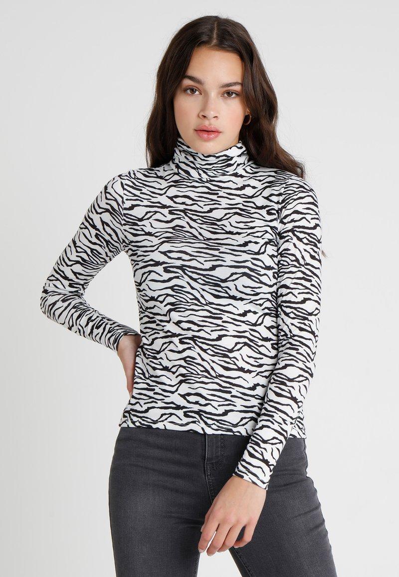 Even&Odd - Long sleeved top - white/black