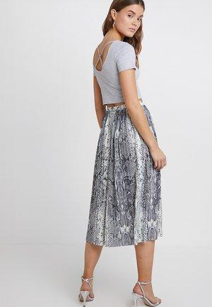 T-shirt print - mid grey melange