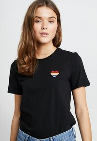 Even&Odd - T-shirt basic - black - 0