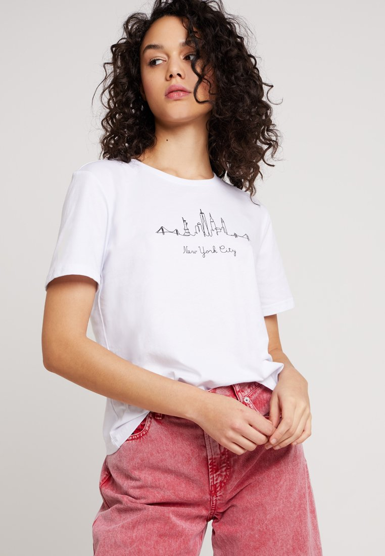 Even&Odd - Camiseta estampada - white
