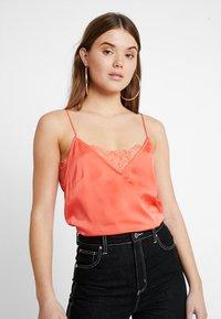 Even&Odd - Print T-shirt - coral - 0