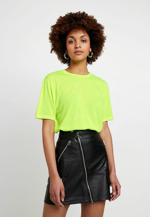 Even&Odd T-shirt basic - neon yellow Koszulki i Topy KLUQ-AY9 60% ZNIŻKI