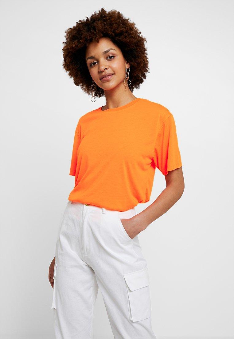 Even&Odd - T-Shirt basic - neon orange