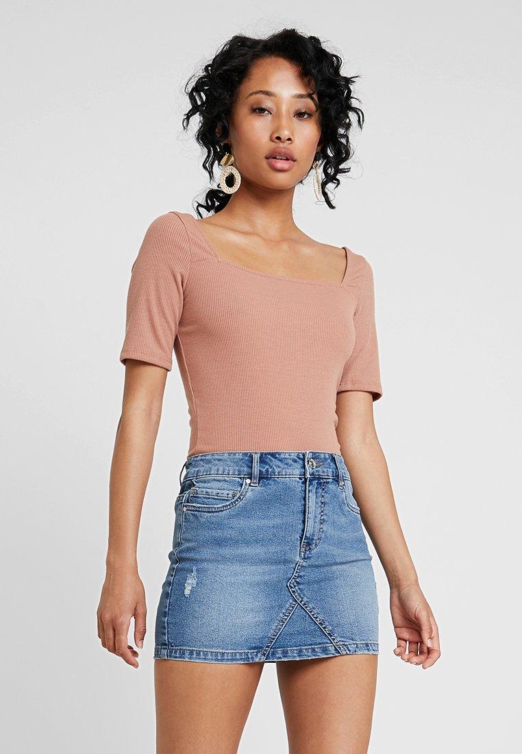 Even&Odd - T-Shirt print - tan