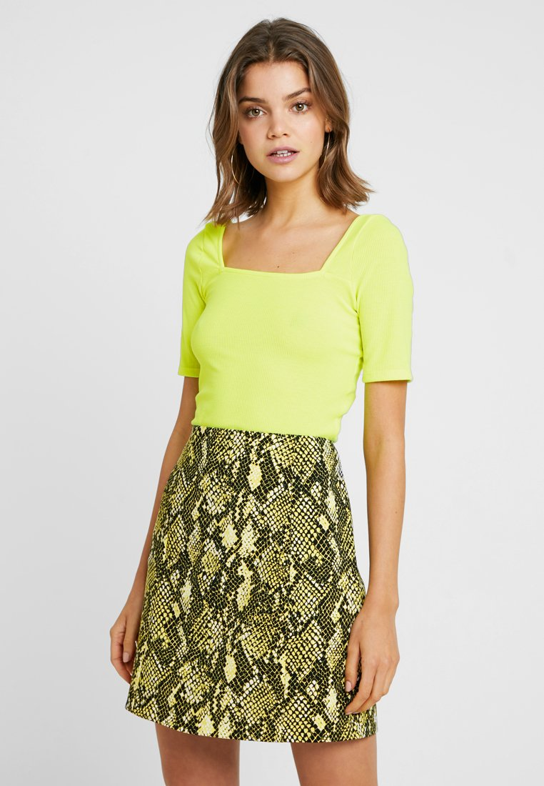 Even&Odd - T-shirt z nadrukiem - neon yellow