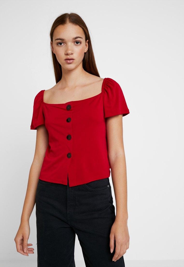 Even&Odd - Camiseta estampada - dark red