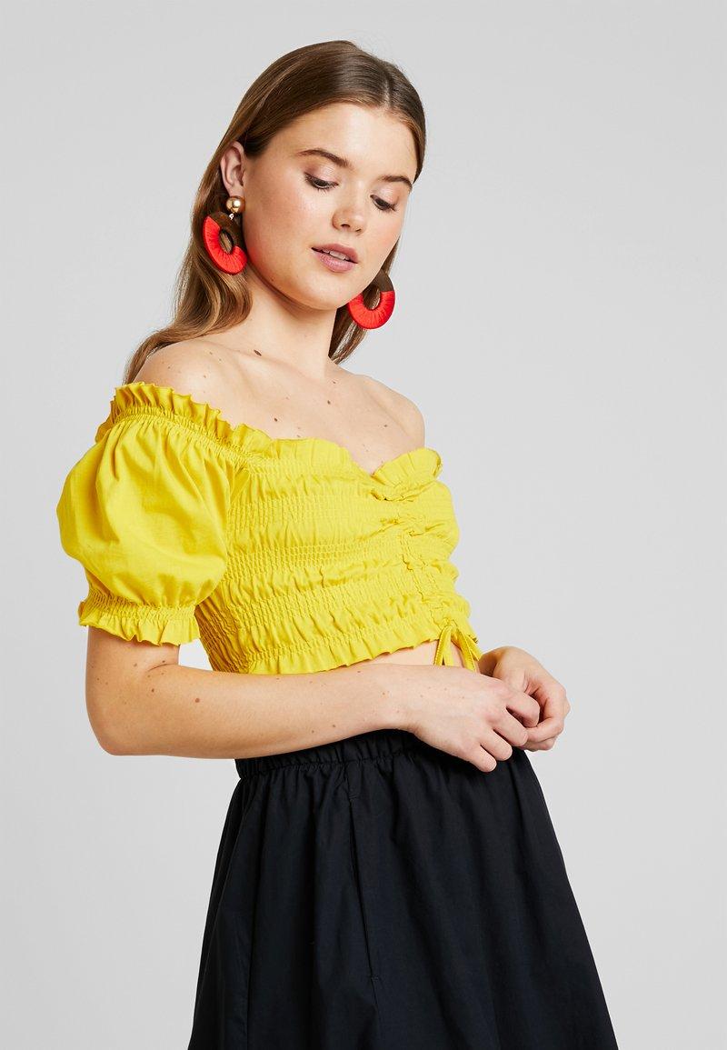 Even&Odd - Triko spotiskem - yellow