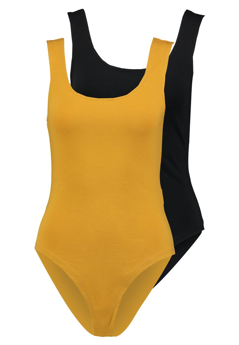 Even&Odd - 2 PACK - Top - yellow/black