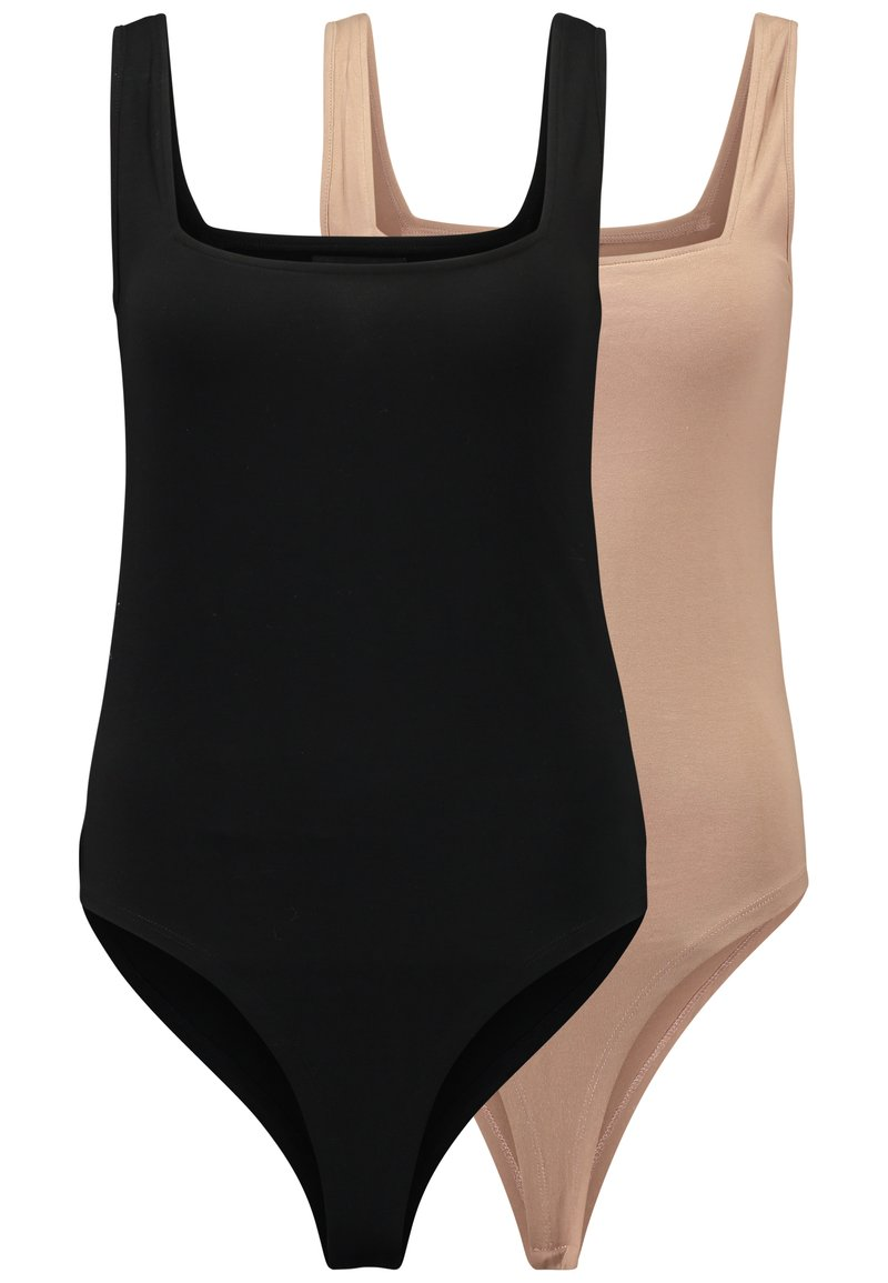 Even&Odd - 2 PACK - Top - tan/black