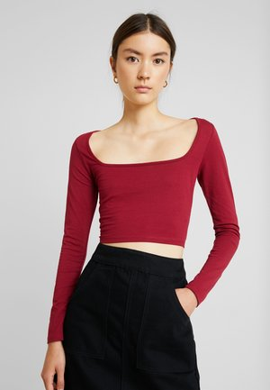 Camiseta de manga larga - burgundy